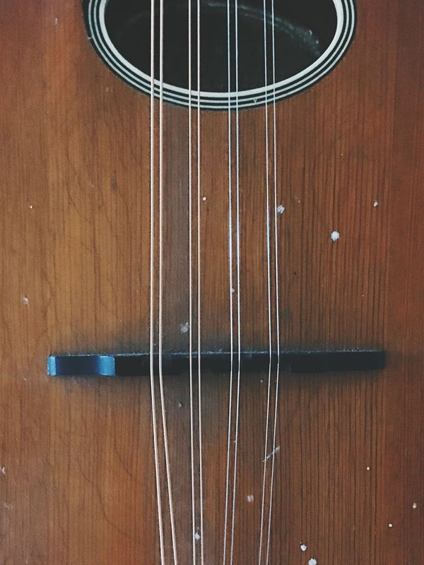 Music Musical Instrument Wood - Material Guitar Musical Instrument String Arts Culture And Entertainment No People String Instrument Indoors  Close-up Fretboard Day Rustic Style Steel Metal Still Rustic Charm Wooden Structure Object Still Life Wooden Strings Mandolin Instrument Instruments