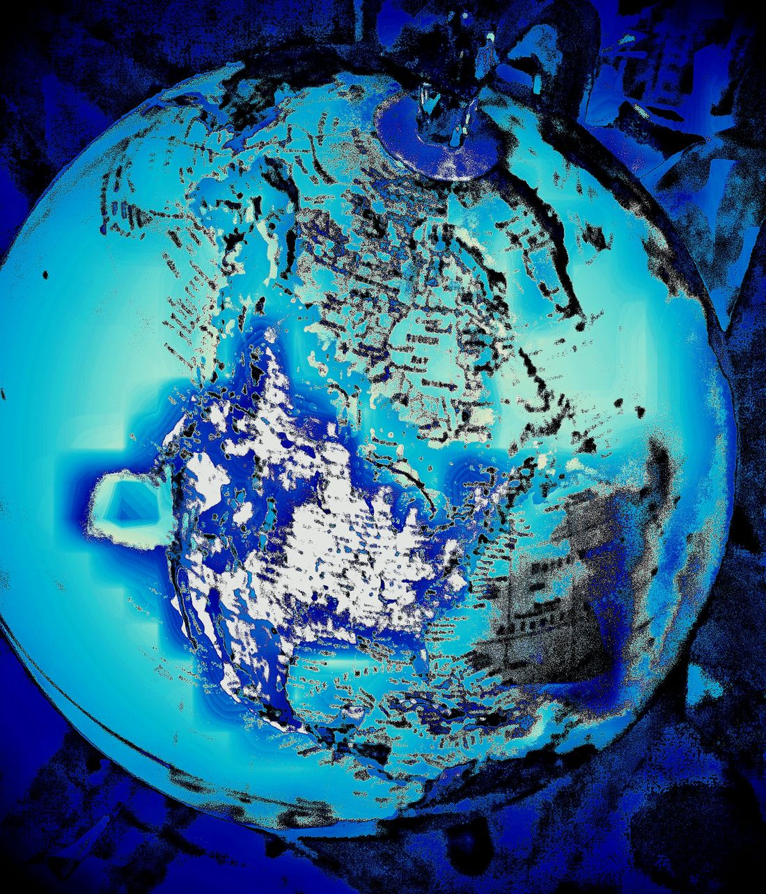 Effects North America 2065 Forever Changed Catastrophic Eventsglobal melt with massive tectonic activity in the pacific, blue is water Point Of View Ice Age