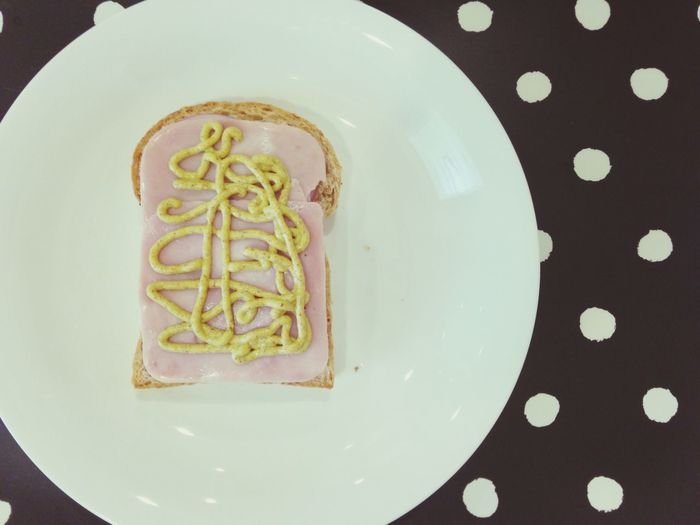 Homemade sandwich Sandwich Homemade Ham Mustard Bake Bread Breakfast Made It By Myself Bangkok Thailand