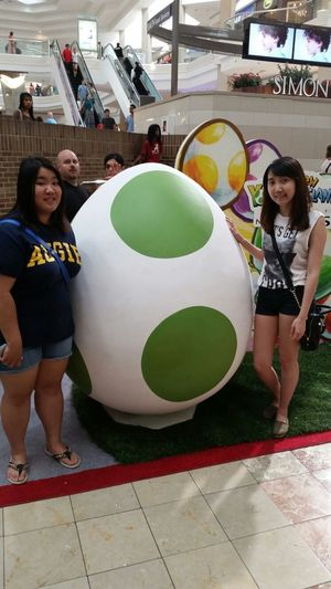 Went to Woodfield today and there was a Nintendo event! Got to take a picture with this Yoshi egg ;)