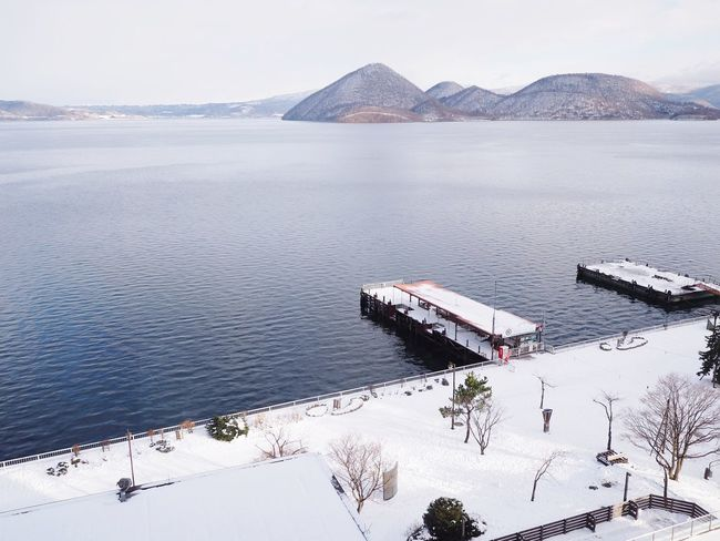 Winter in Hokkaido at Lake ToyaEyeEm Selects Hokkaido Japan Laketoya Snow Wintertime Winter Snowlake Cold Beauty In Nature Landscape Travel Destinations No People Nature