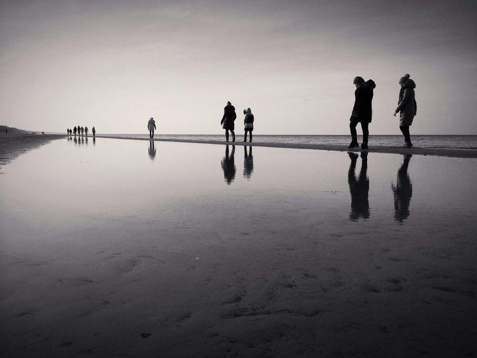 Beautiful stock photos of group, Beach, Calm, Clear Sky, Coastline