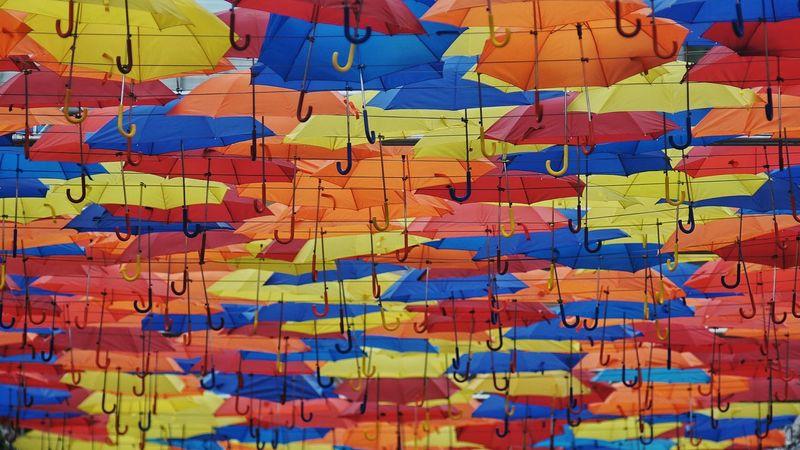 Umbrella Umbrellas Umbrella Sky Umbrellastreet Umbrellas In The Sky Coloursplash Colourfull Colours And Patterns