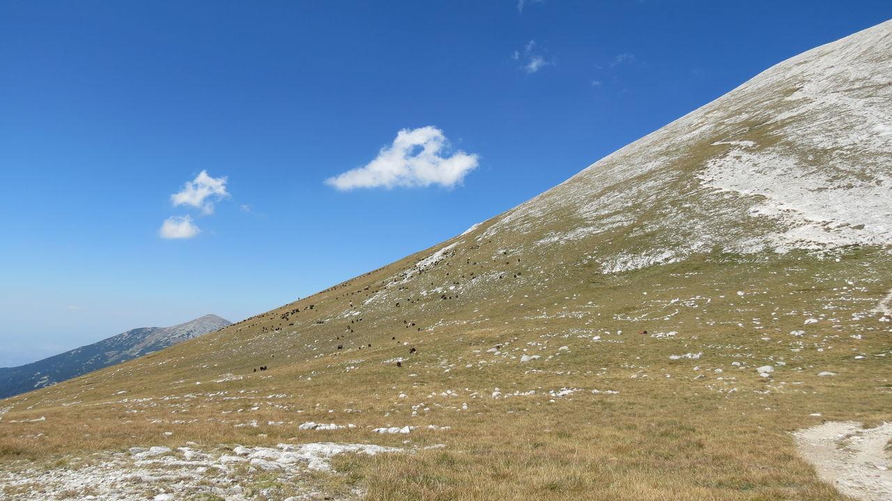Blue Day Landscape Mountain Nature No People Orange Color Outdoors Sky