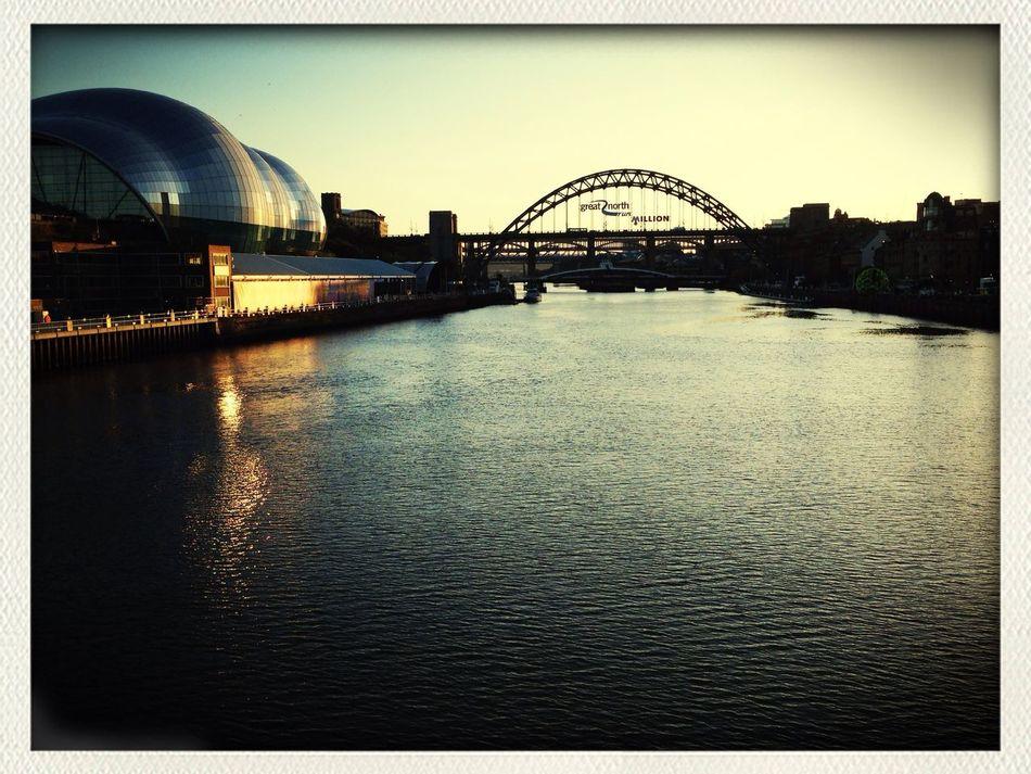 Tyne Bridge Newcastle Newcastle Quayside The Sage River Tyne