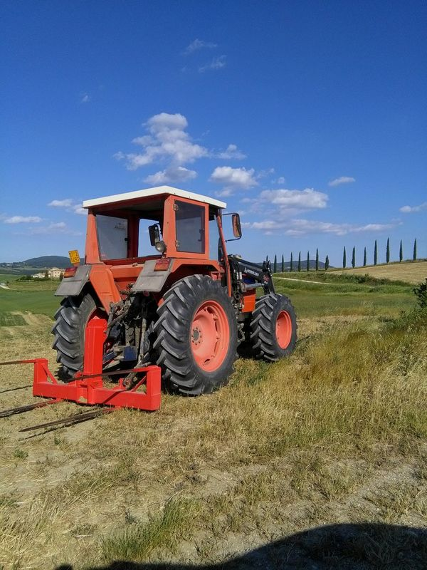 Tractor Agriculture Agricultural Machinery Rural Scene Nature
