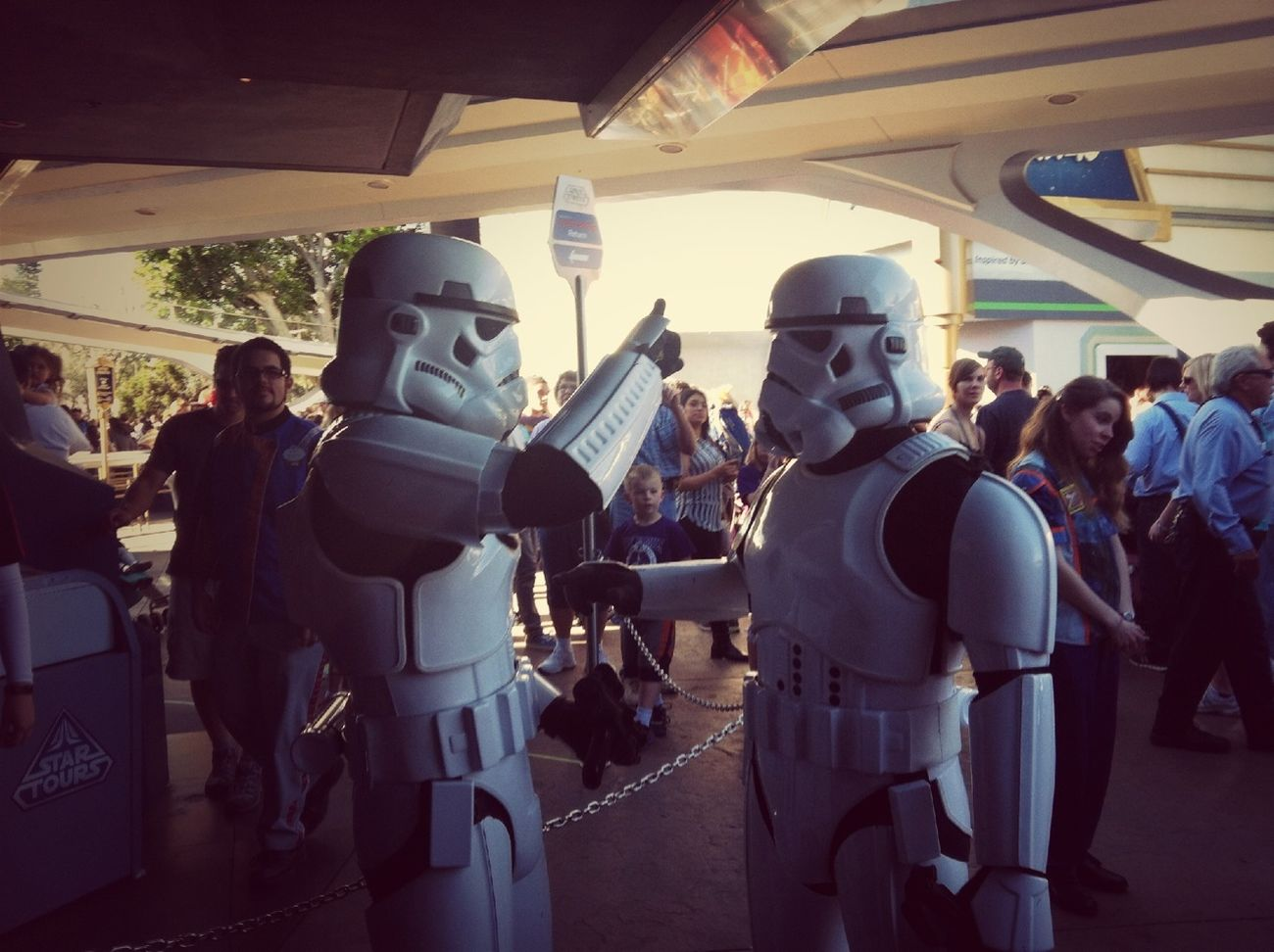 Storm Troopers Chatting