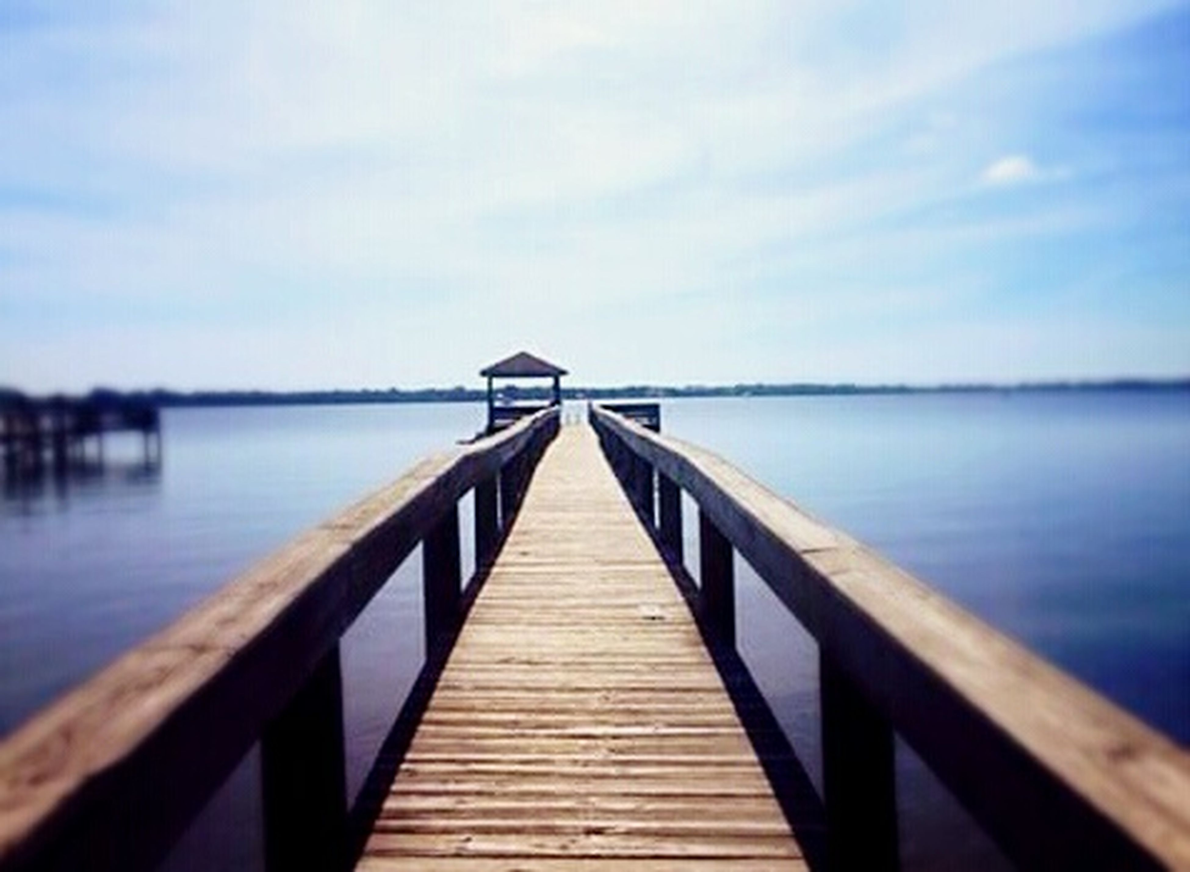 water, pier, wood - material, jetty, sky, sea, built structure, the way forward, wood, tranquil scene, tranquility, railing, diminishing perspective, blue, wooden, nature, lake, day, scenics, architecture