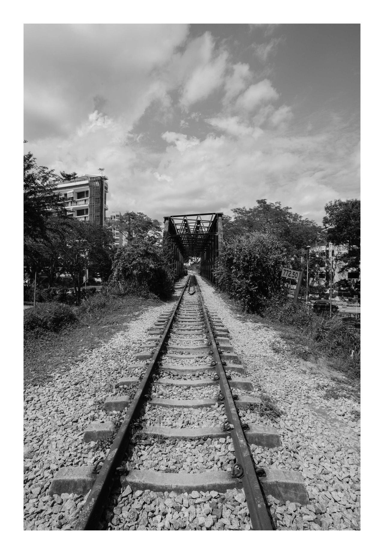 Journey B&W Collection Bukit Timah KTM, Rail Corridor Run Railroad Track Train Station