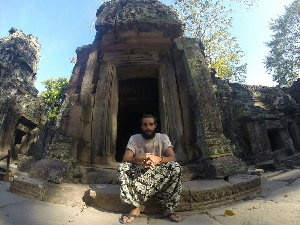 Gopro That's Me Selfie Portrait Ta Prohm Temple Tombraider Beard Travel Bestoftheday