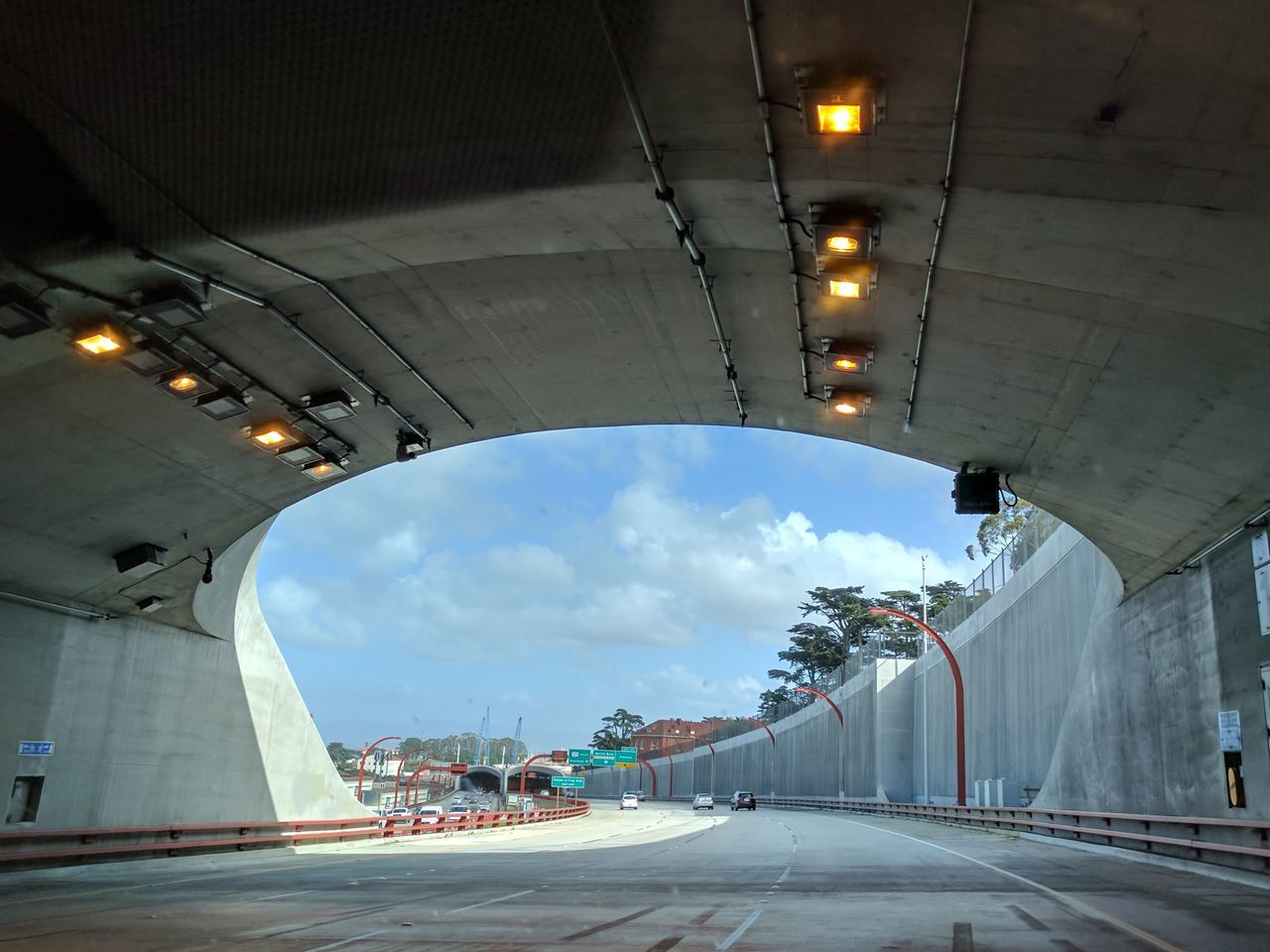 Emerhing grom tunnel on san francisco Cloud - Sky Sky No People Innovation Day Outdoors Architecture Tunnel Tunnel View Road City Built Structure Illuminated The City Light