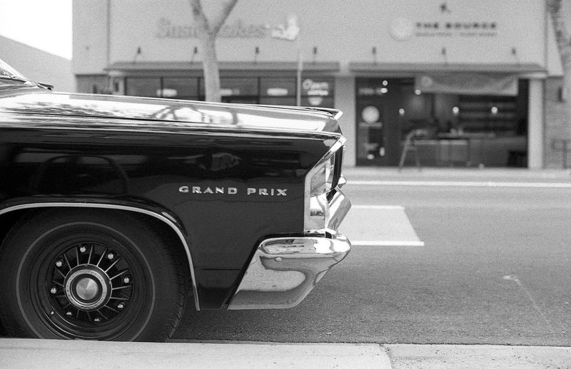 Love how the front end of this Pontiacgrandprix could almost be its rear end. Car NikonFM2 Nikon Ilforddelta400 Blackandwhite Monochrome Film Shootfilm Staystokedshootfilm Filmisnotdead Believeinfilm Film Photography Ilford 35mm 35mmfilm Vintage Classic Car Willowglen Willowglenthings