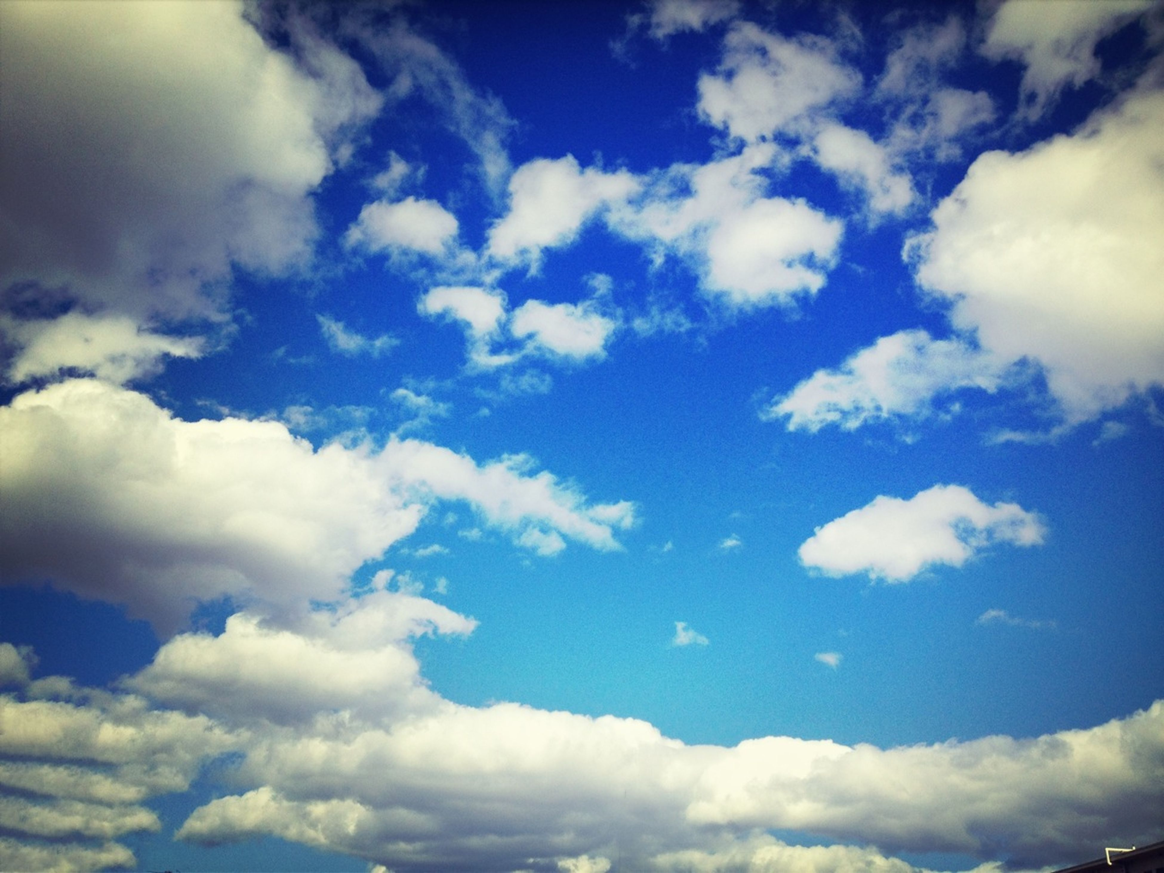 sky, cloud - sky, low angle view, beauty in nature, sky only, tranquility, scenics, blue, nature, cloudscape, cloudy, tranquil scene, cloud, white color, backgrounds, idyllic, fluffy, white, day, outdoors