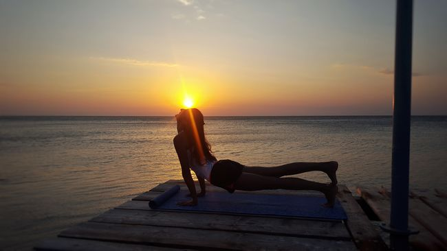 Water Horizon Over Water Sea Scenics Orange Color Tranquil Scene Tranquility Sky Sun Idyllic Beauty In Nature Nature Getting Away From It All Vacations Weekend Activities Seascape The Magic Mission Escapism Tourism Sunnrise Summer2016 Yogainspiration Yoga Summer ☀ Sunrise