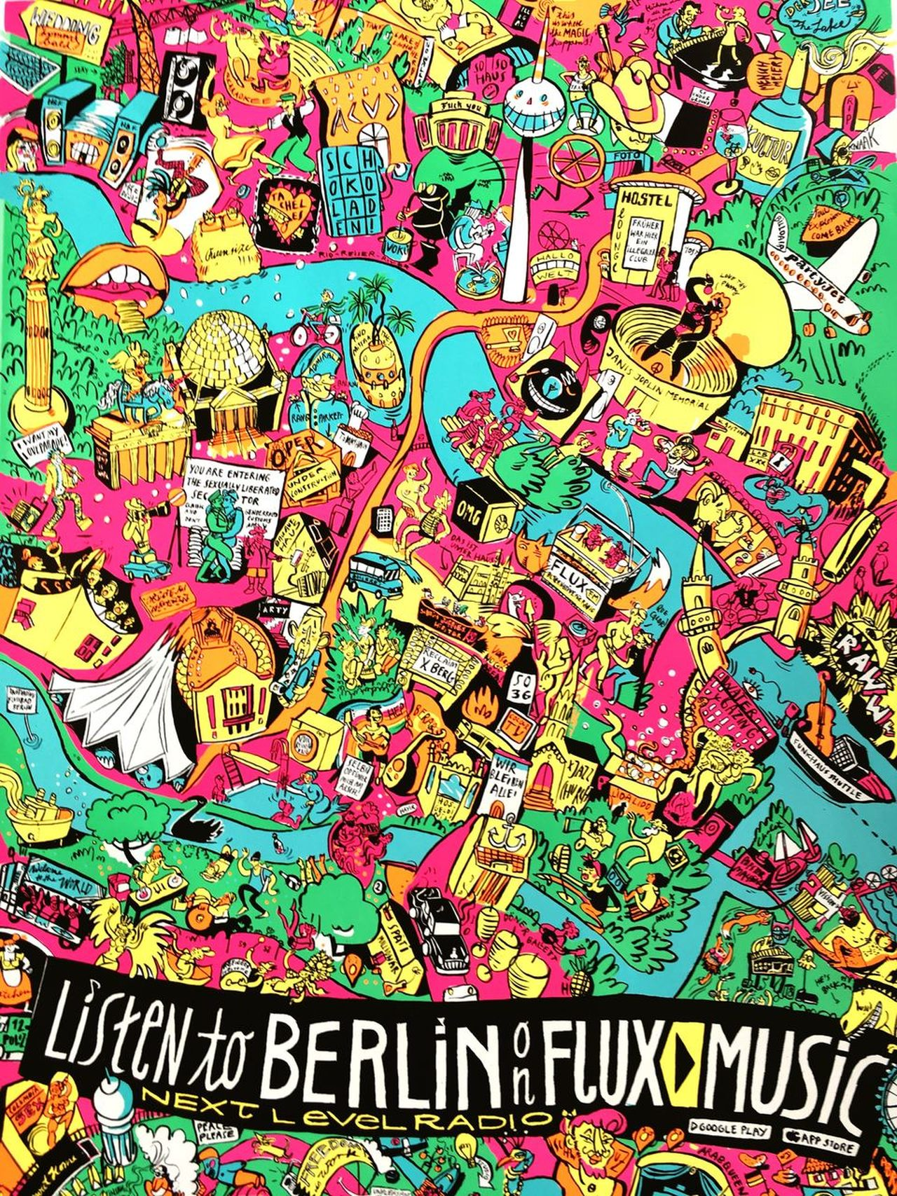 FluxMusic Berlin Music Multi Colored Text Full Frame Backgrounds No People Close-up Day Illustration
