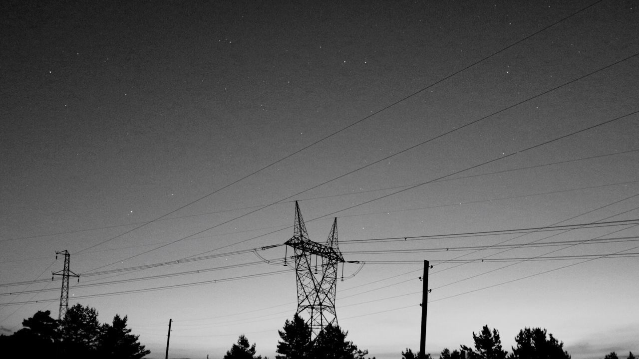 EyeEm Selects EyeEmNewHere Cable Connection Electricity  Power Line  Electricity Pylon Power Supply Fuel And Power Generation Technology Silhouette Low Angle View Tree Sky No People Outdoors Nature Telephone Line Clear Sky Day