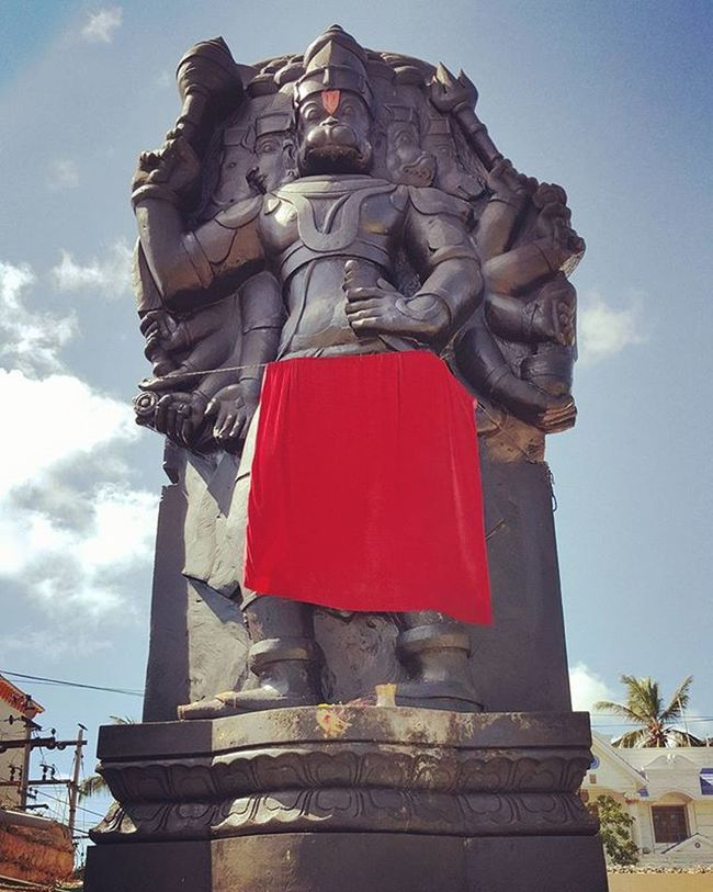 Panchmukhi Anjaneya Lordhanuman Floatingstone Temple Rameshwaram Enchantingtamilnadu Incredibleindia S6photography Travel Photooftheday Spiritual Blessing Beenthere
