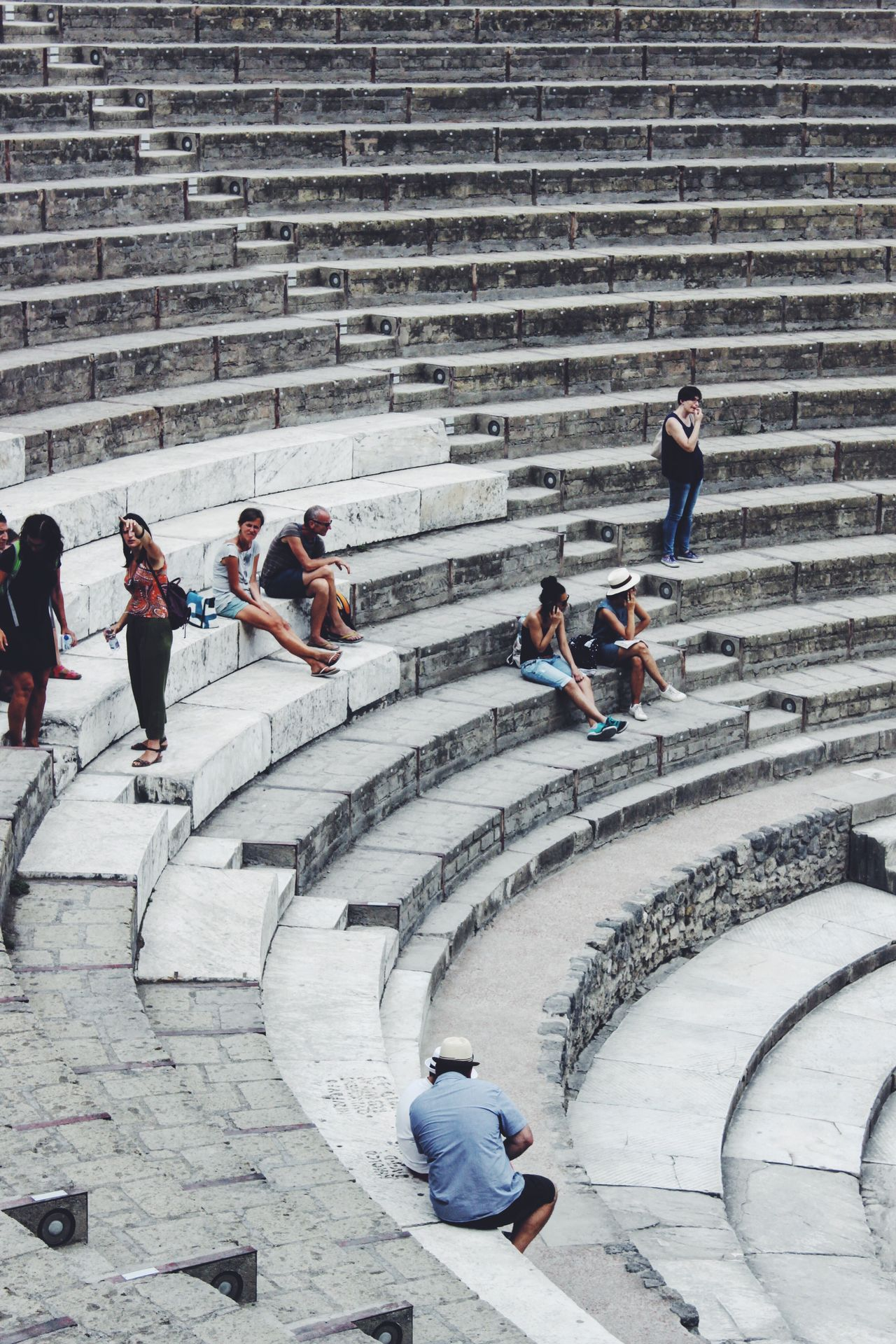 Beautiful stock photos of pompeji, high angle view, full length, women, day