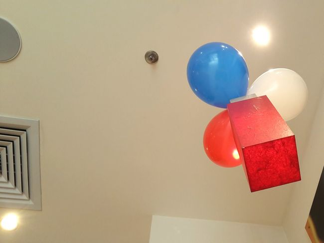 Red Balloon Celebration Helium Balloon Holiday - Event Indoors  Helium No People Close-up Day Lights And Shadows Lights Lamps And Lights. Lampshade Lamps Lamp Lamp Red Color Red Blue Ambience Photography Ambience Ambient Ambient Light