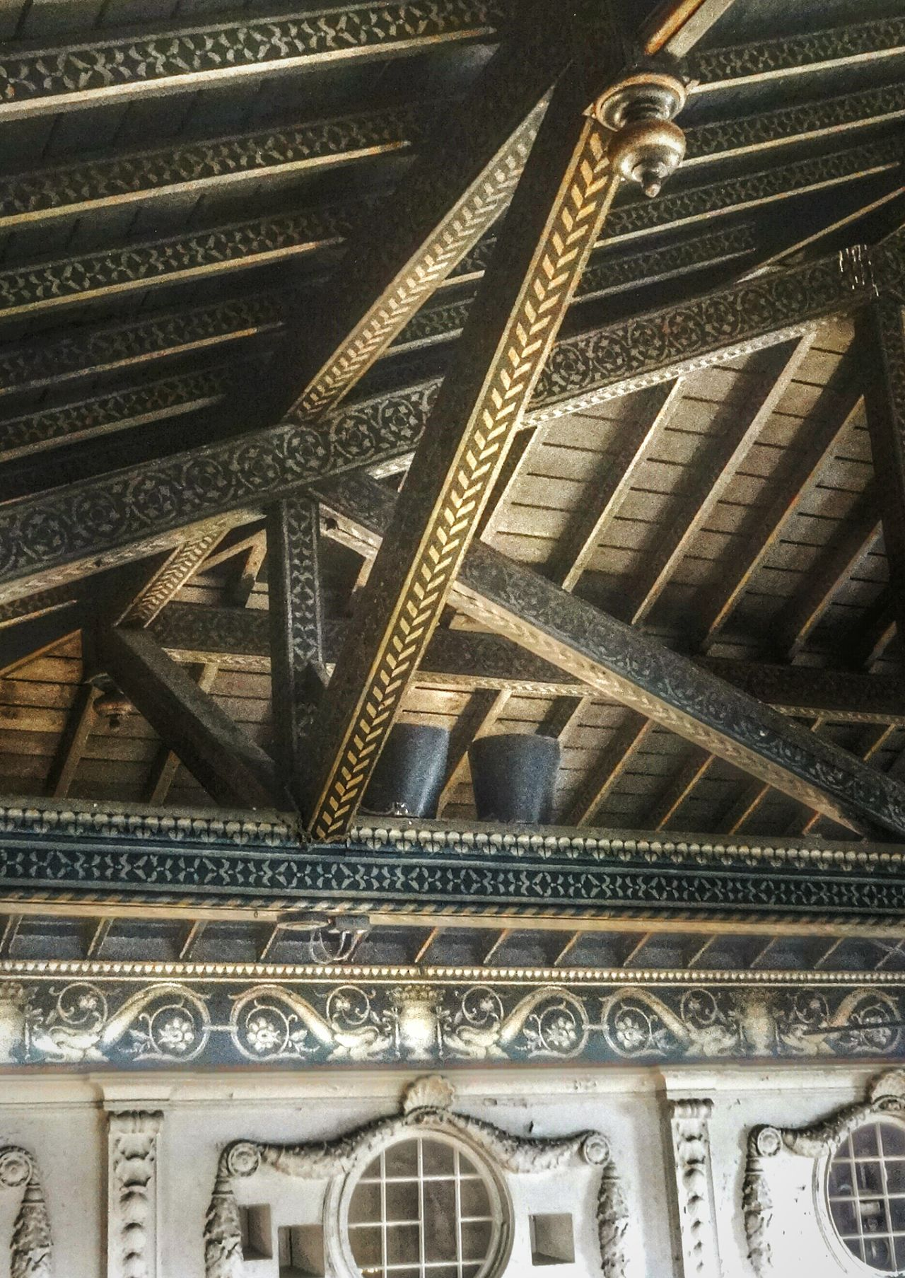 Ornate rafters of the boat house ballroom... Detroit Boat House Architecture_collection Historical Building Showcase March Hdr_Collection