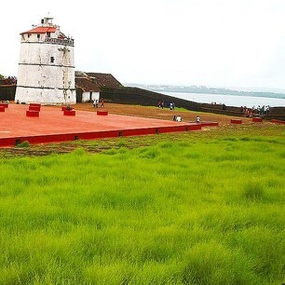 Architecture Built Structure Lighthouse Building Exterior Grass Rural Scene Landscape Field Green Color Tranquility Outdoors Growth Day Nature Tranquil Scene Red Agriculture Grassy No People Farm Goa Blackberry10 Click