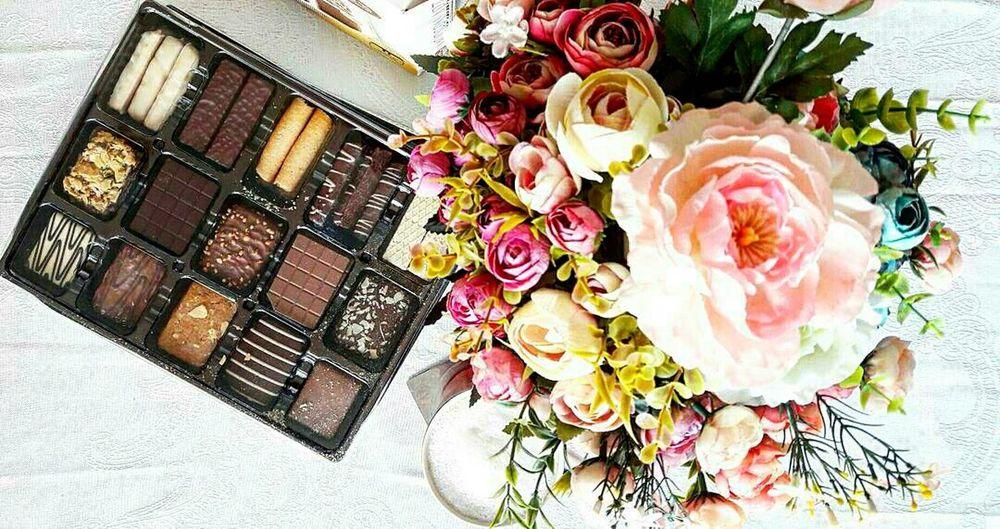 Flowers Nature Biscuits🍪 Cookies🍪 Coffee - Drink Coffee ☕ ILike This :) People Beuatiful❤
