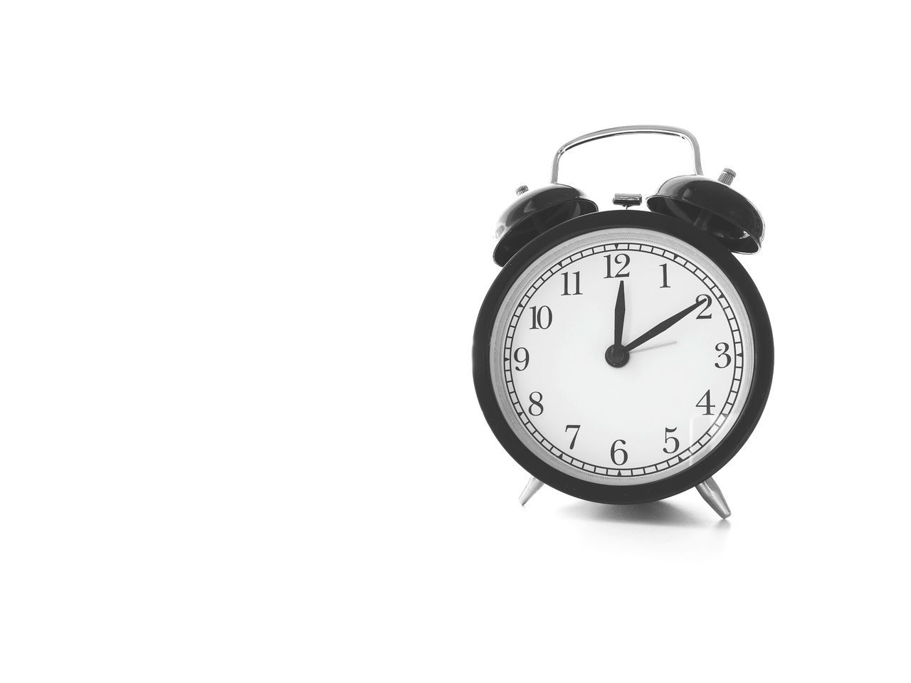 Time Clock Alarm Clock Number Clock Face Old-fashioned White Background Minute Hand Hour Hand Midnight Day Countdown Close-up No People Times Single Object Blackandwhite Alarm First One AlarmClock Old-fashioned Noon Time Afternoons