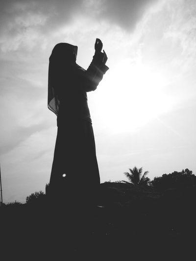 """"""".... Dan aku belum pernah kecewa dalam berdoa kepada-Mu, Ya Tuhanku"""" (Q.S Maryam[19]: 4) Blackandwhite Photograph"""