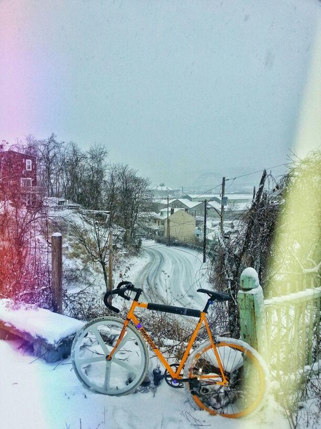 Bike Winter Bicycle Snow Freezing Fixed Gear Fixie Mercier Aerospoke Dropbars Kilo Tt