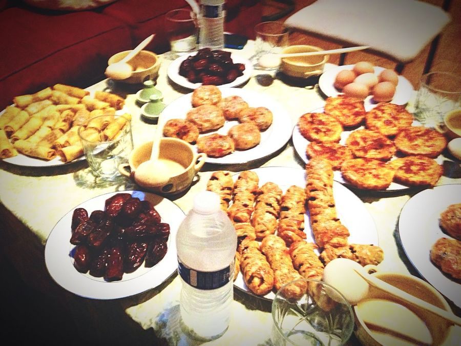 Mealtime Iftar Moroccan Food Family❤ Breaking Fast Ramadan 2015 Feeling Blessed