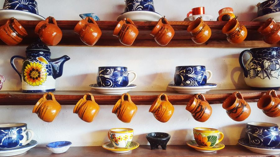 In A Row Shelf Hanging Food Jars In A Row Drinks Mexican Mexico Mexican Food Restaurants Restaurant Decor Restaurant Craft Work Indoors  Kitchenware Kitchen Stories Kitchen Decoration Cup Cups Mug Mugs Kitchen Tools Kitchen Utensil Kitchen Story
