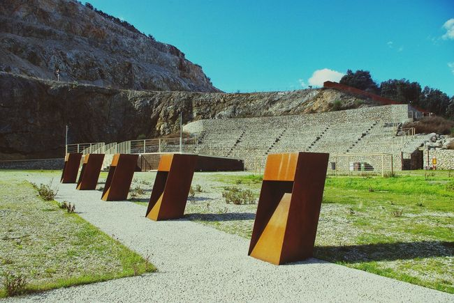 Q Quarry in Gavorrano Tuscany Italy Outdoor Theatre Museo Minerario Parco Delle Rocce Corten Steel Modern Architecture How Do We Build The World?