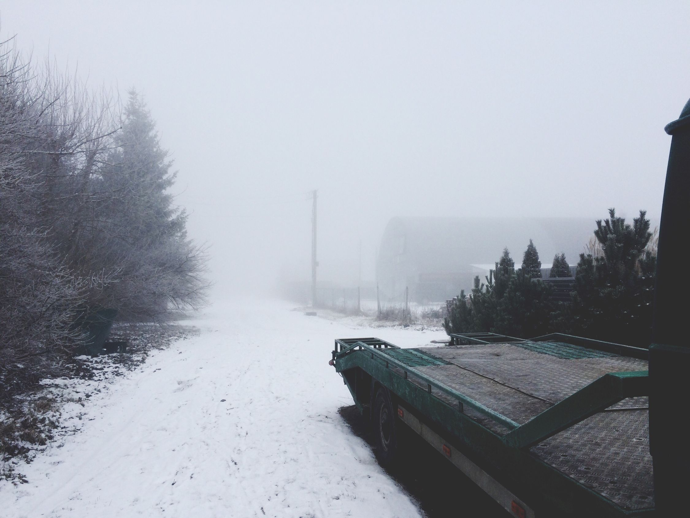 Winter ending fog Lastdayofwinter Firstdayofspring Trail Van First Eyeem Photo