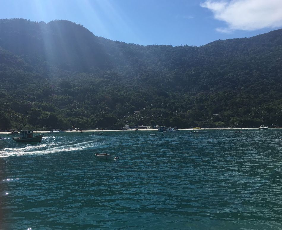 Water Nature Beauty In Nature Scenics Tree Sky Tranquility Day Tranquil Scene Waterfront Outdoors Mountain Nautical Vessel Sea No People Ilhagrande AngraDosReis Angra Dos Reis Cariocagram Carioca Cariocando Carioca Girl