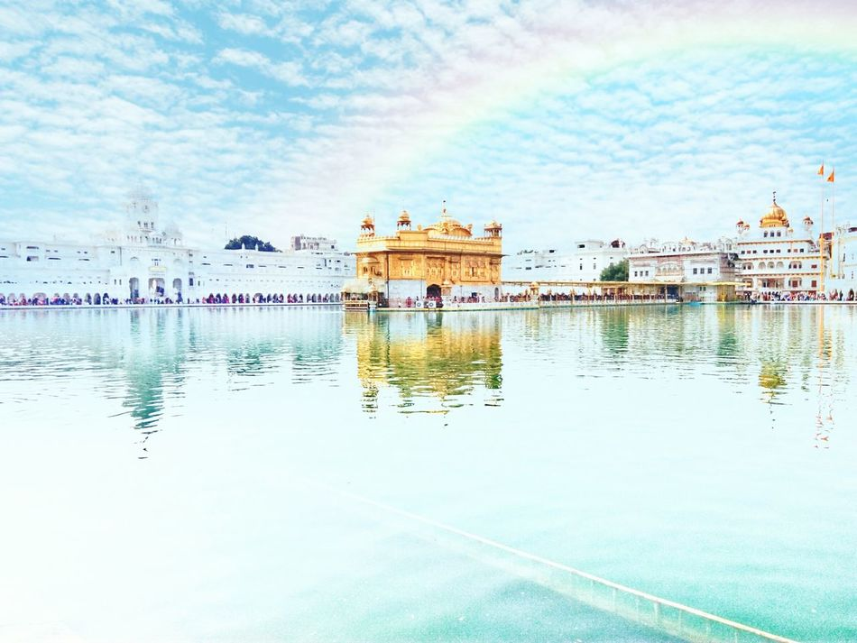 Golden Temple AmritsarDairies Rainbow🌈 Cloud - Sky Reflection Lake