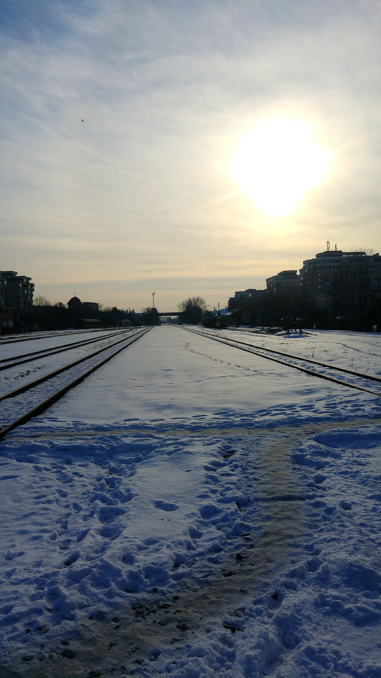 Cold Temperature Train Tracks Train Ride Winterdays ❄ Toocoldoutside Trainplatform Train Station Snow Covered