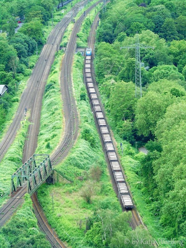 view from Gasometer Atmosphere Green Color Hello World ✌ I Like Like A Railway To Play With No People Non-urban Scene Railway Journey Railway Track The Way Forward Transport