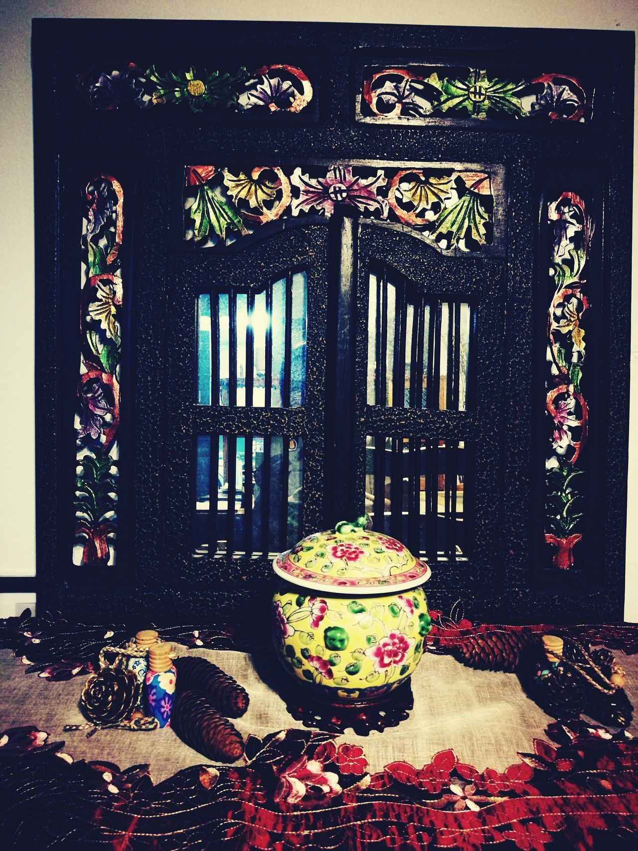 Peranakan Nonya Nonya Peranakan Kum Cheng Archival Indoors  No People mirror