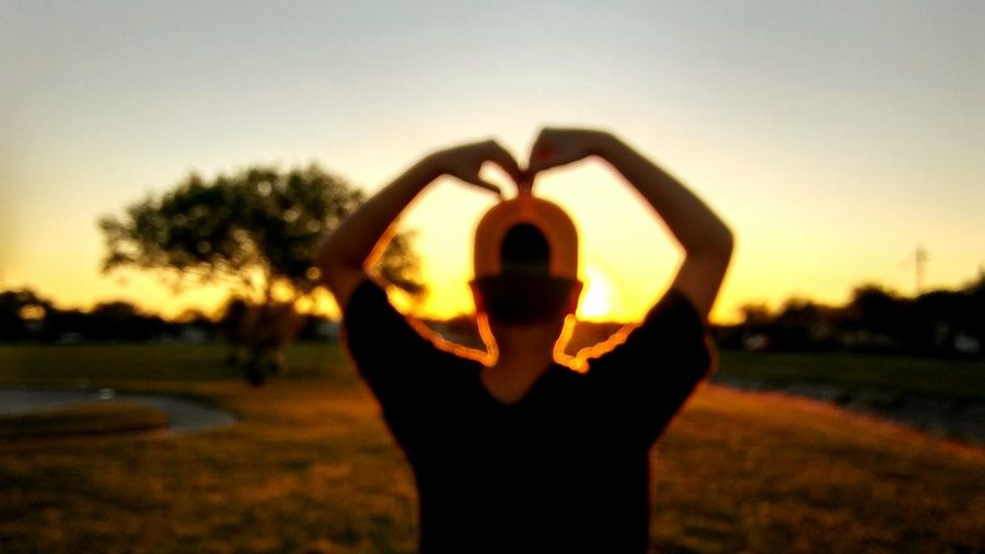 One Person Sunset Sky Standing Human Hand Outdoors Nature Silhouette Grass Love Backgrounds Caption This Outcast Valentines Day