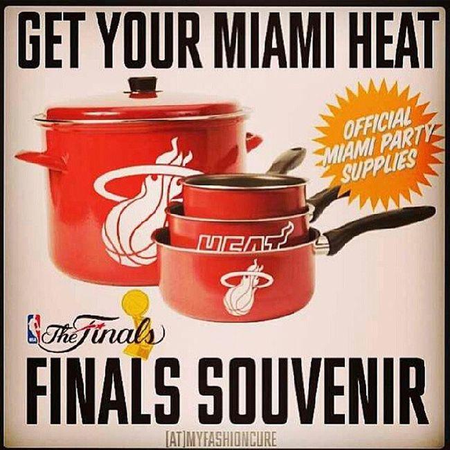 Lets go heat!!! Lmaoo Potsandpansnowonsale Heattime Finalsherewecome Casuelas lol