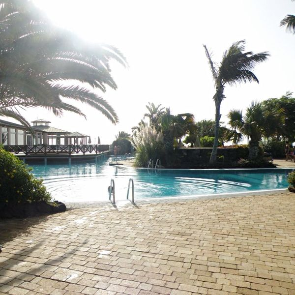 Poolsideview Sunnydelight Summer Holidays Beautiful View Canary Islands