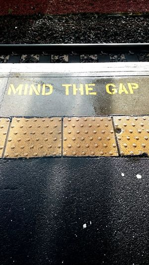 Mind The Gap Train Station Afternoon Light