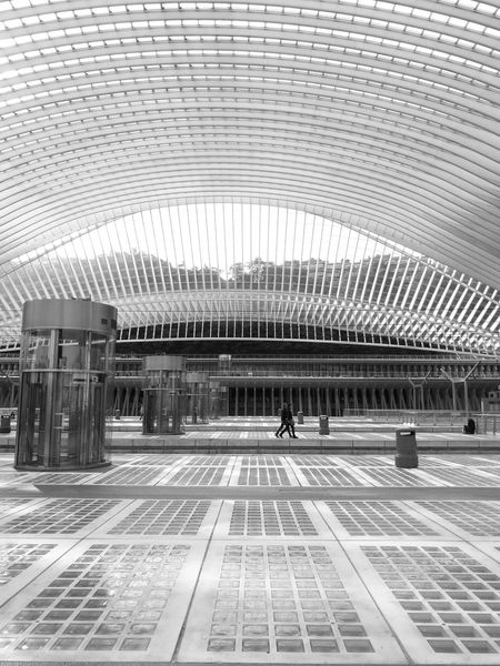 Architecture Building Exterior Modern Train Station. Black And White People Watching People People And Places Urban