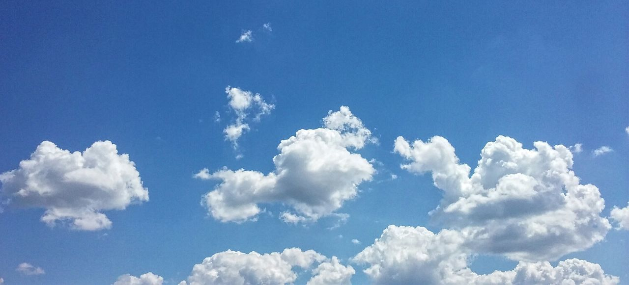 Blue sky. Pretty clouds. Sky And Clouds Blue Sky White Clouds Sky Background Summer Sky And Clouds