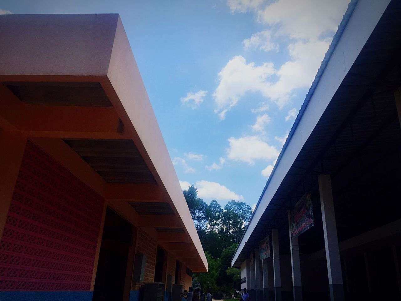 architecture, built structure, sky, low angle view, building exterior, cloud - sky, day, outdoors, no people, tree, nature