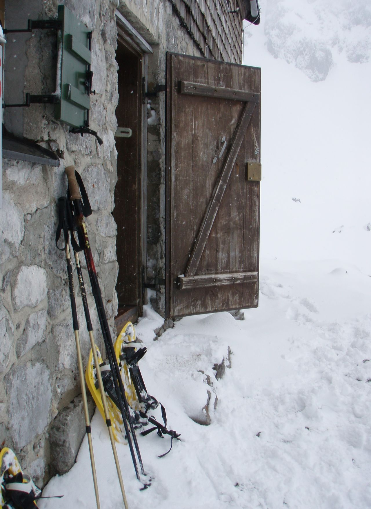 Have a break! Alps Austria Beauty In Nature Break Breaktime Building Exterior Cold Temperature Day Door House Mountain Mountain Hut Mountain Shelter Nature No People Outdoors Rest Sky Snow Snowshoeing Stone Wall Wilder Kaiser Winter Winterwalk Wood - Material Miles Away
