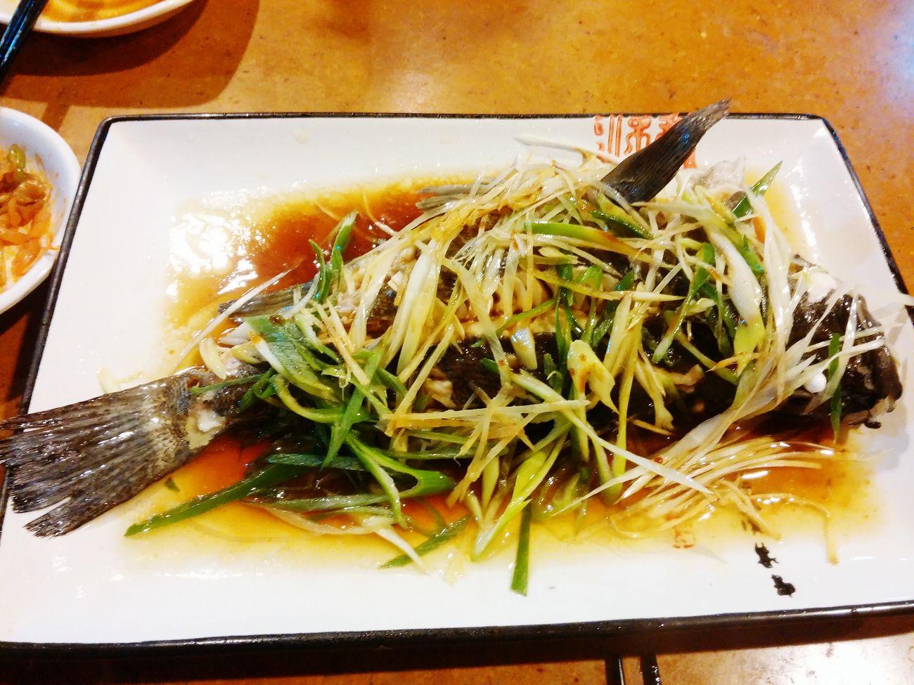 간장소스우럭찜 이거 진짜 존맛.... 생선요리중 갑오브갑 특제간장소스 맛있졍 딜리셔스 오이시 하오츠 Food 중화요리