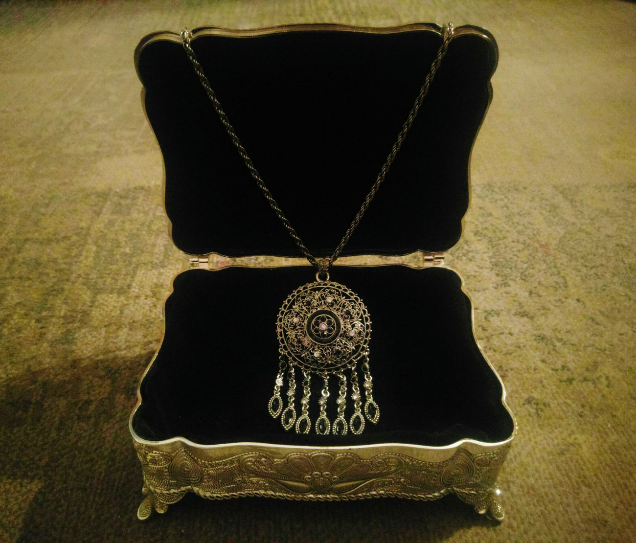Lieblingsteil Jewellery No People Silver  Silverware  Necklace Box Jewellery Box Oriental Oriental Style
