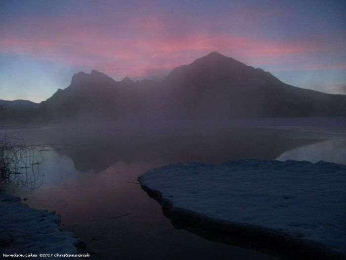 Mt Rundle And Sulphur Mountain Sunrise In The Mountains Tranquil Scene Vermilion Lakes Banff N.P. Vermilion Lakes Sunrise