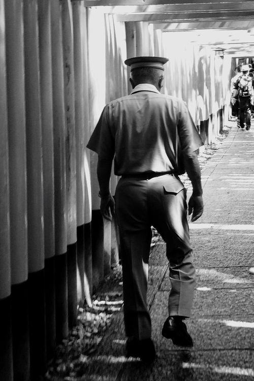 TORII Policeman IPhone Photography Black & White